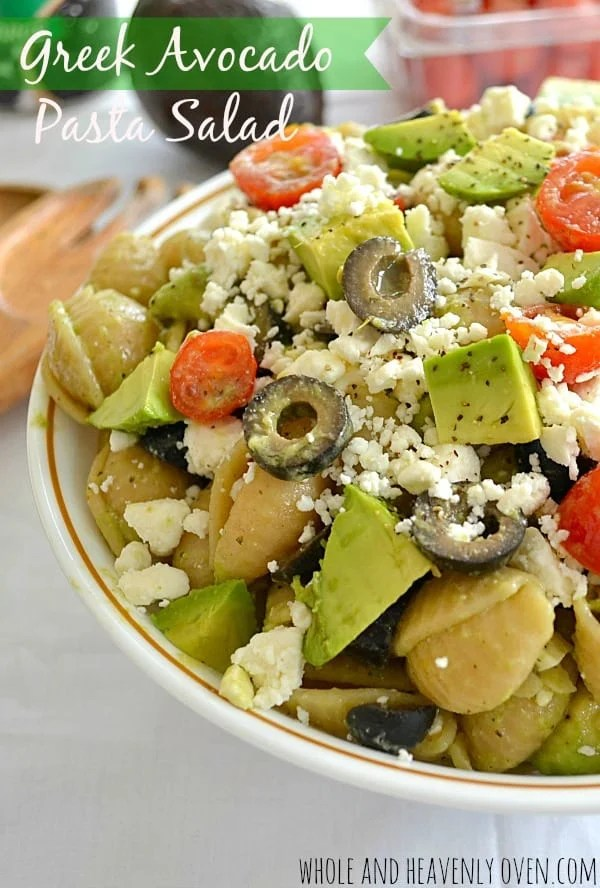 Greek Avocado Pasta Salad10