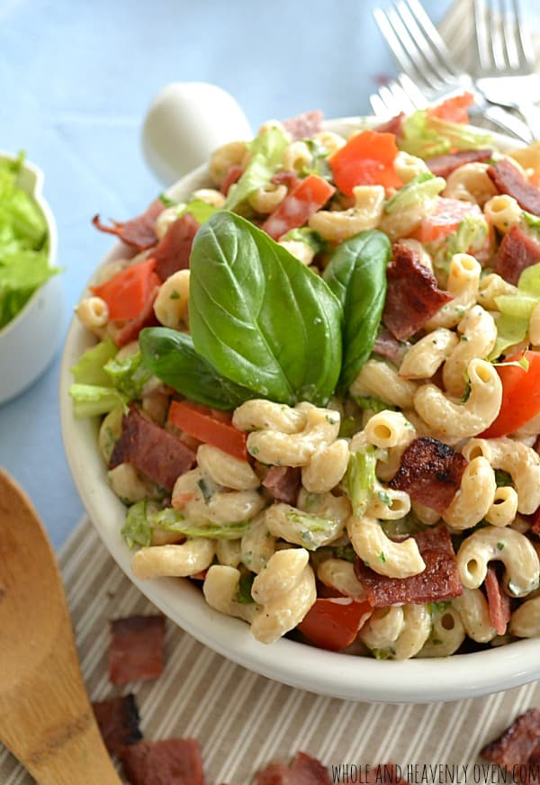 BLT Pasta Salad With Herb Ranch Dressing12