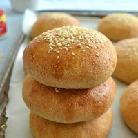 Homemade Whole-Wheat Hamburger Buns