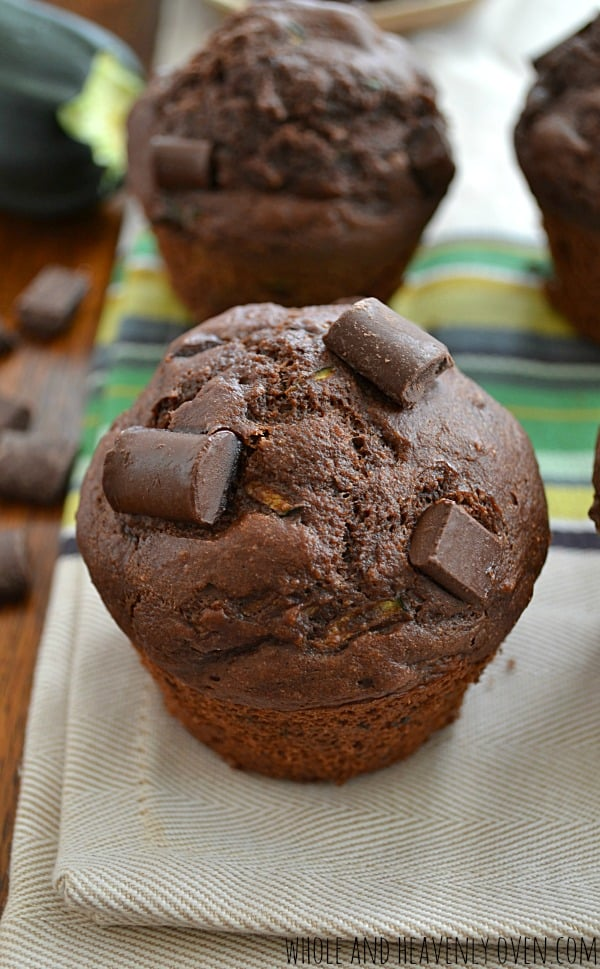 Healthy Chocolate Zucchini Muffins5