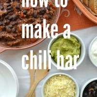 How To Make A Chili Bar