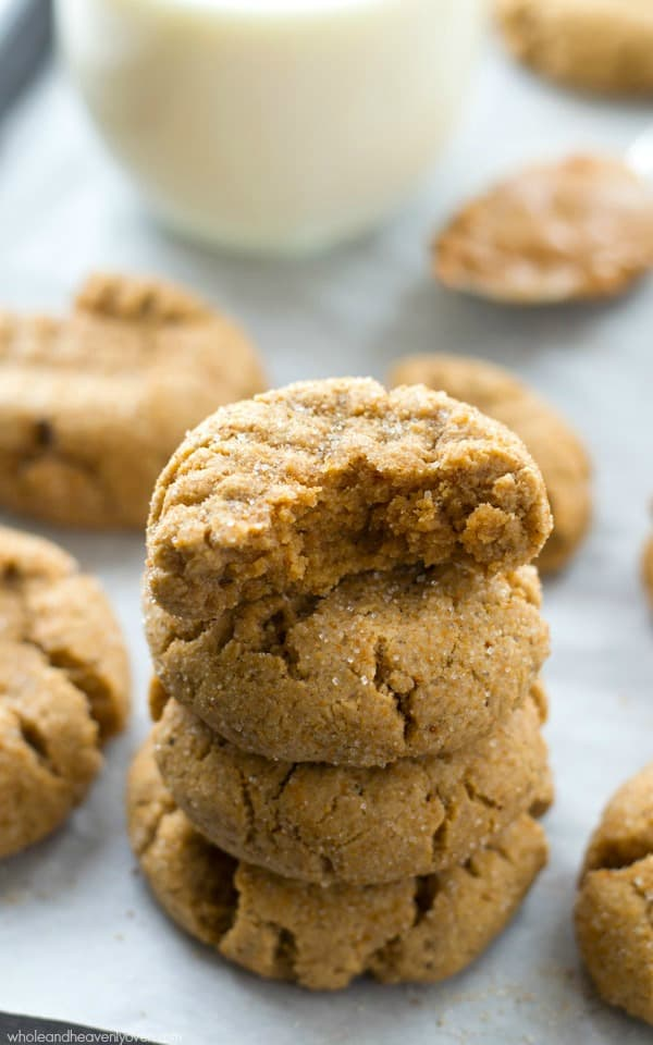 Unbelievably soft and chewy and loaded with a double-delight of browned butter and peanut butter, these addicting sugar-coated cookies will be requested again and again! @WholeHeavenly