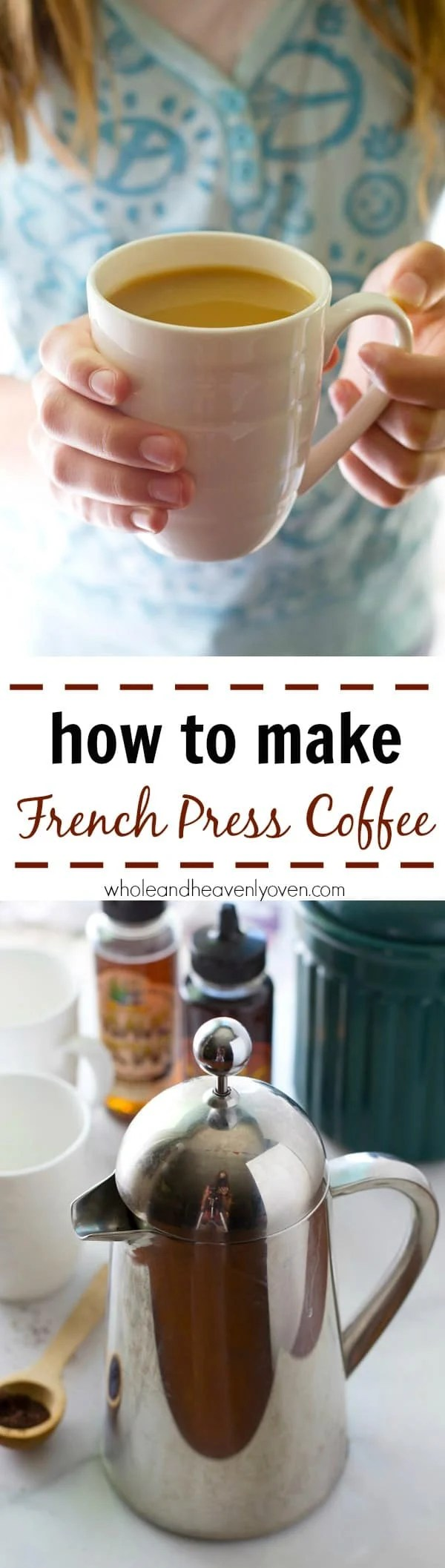 Once you learn how easy it is to make the perfect cup of french press coffee, you may never use your coffee maker again! Step-by-step photos included. @WholeHeavenly