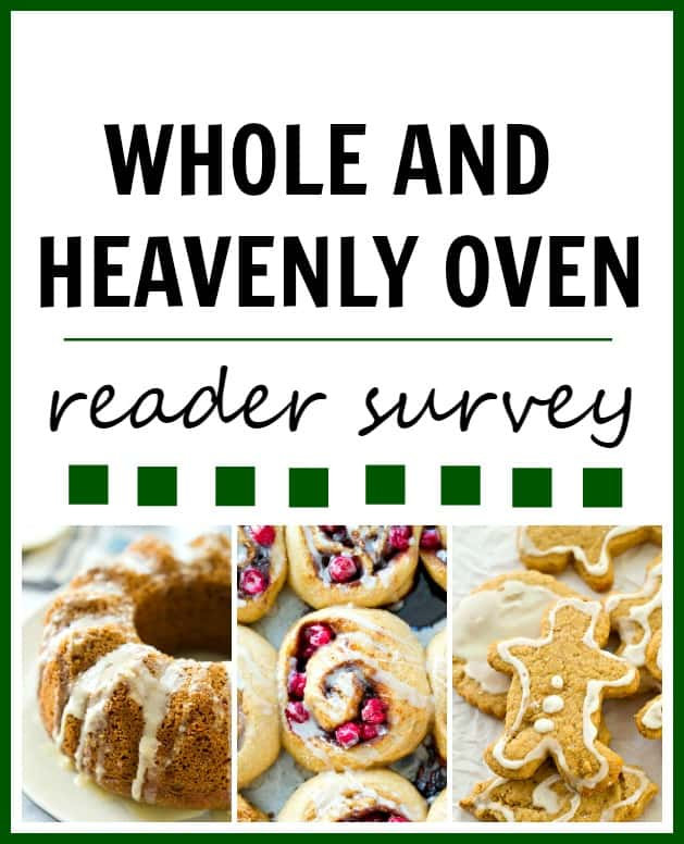 Whole and Heavenly Oven Reader Survey