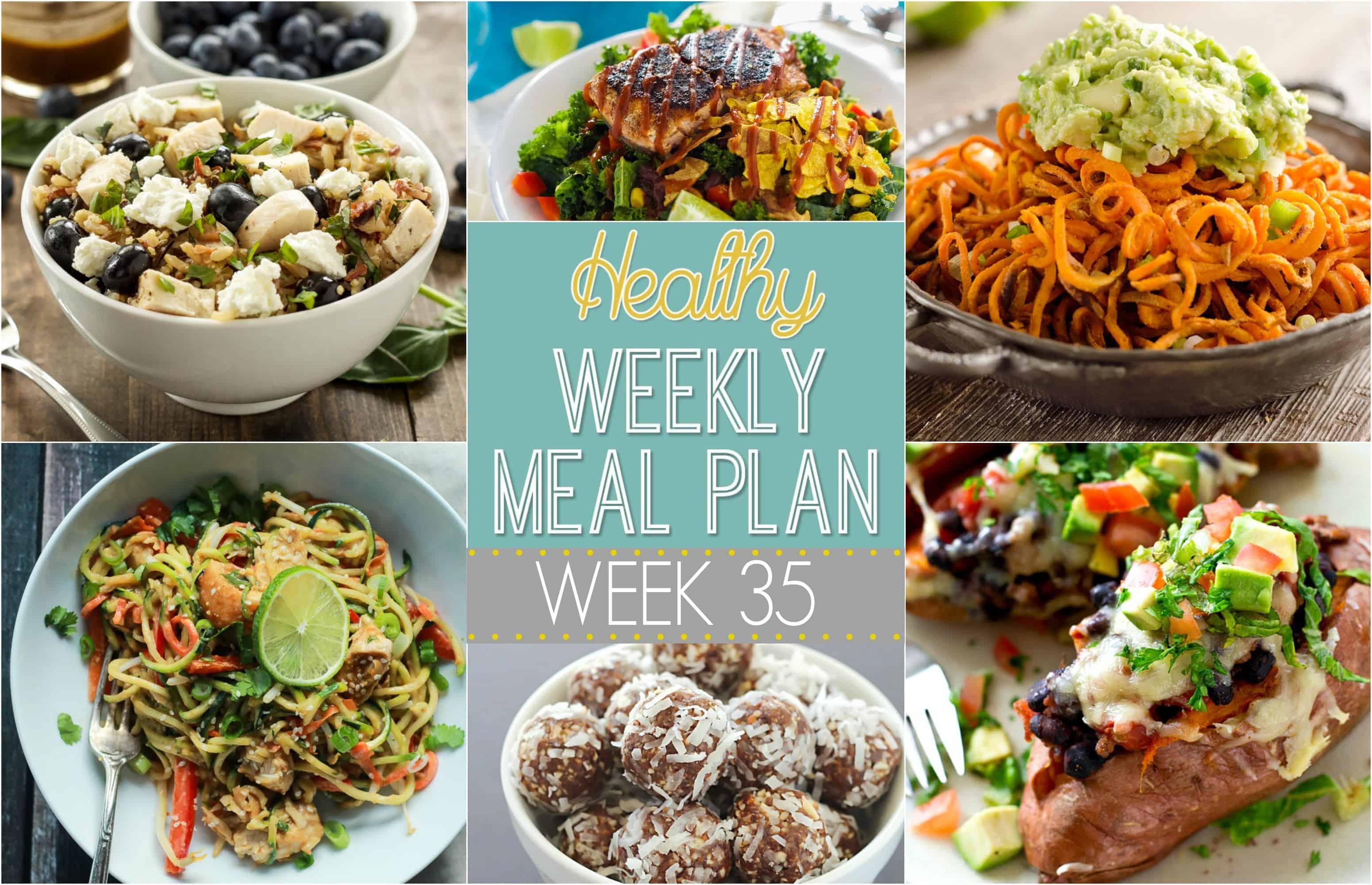 Healthy Weekly Meal Plan Week 35
