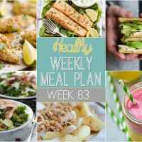 Healthy Weekly Meal Plan Week 83