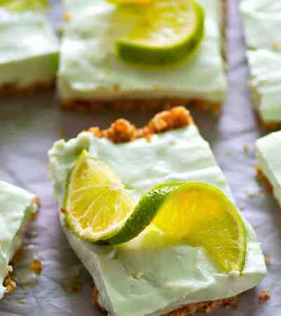 These creamy, refreshing key lime pie cheesecake bars are a DEAD ringer for key lime pie and you won't believe they're made completely in the freezer!