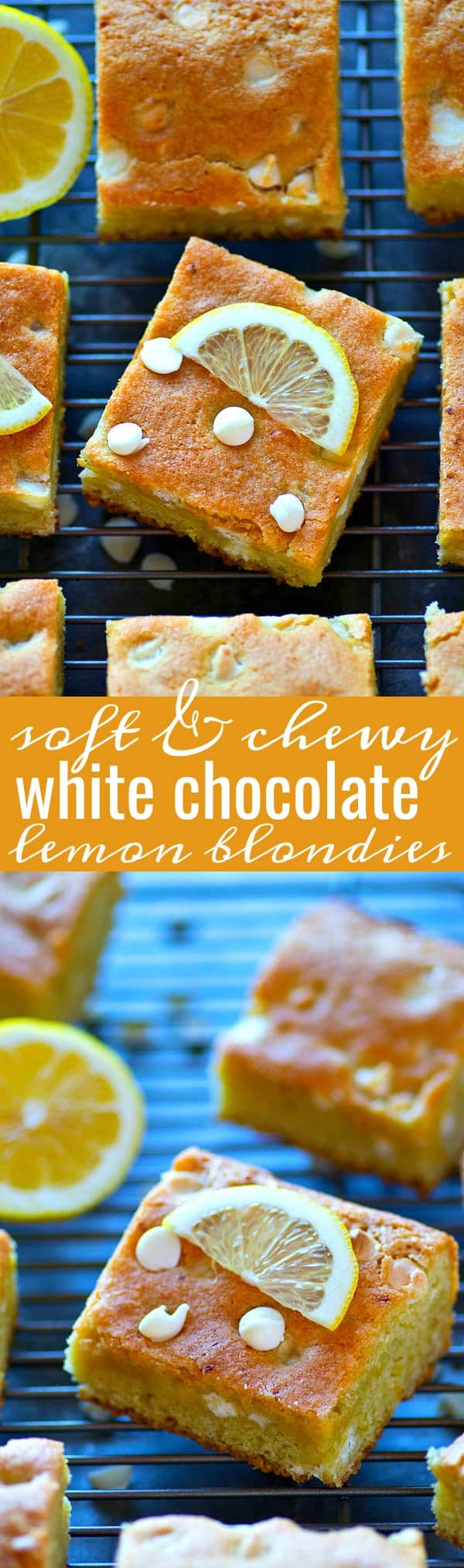 Soft, chewy, and loaded with intense lemon flavor and tons of white chocolate, these white chocolate lemon blondies are seriously addictive and SO easy to throw together for a last-minute dessert!