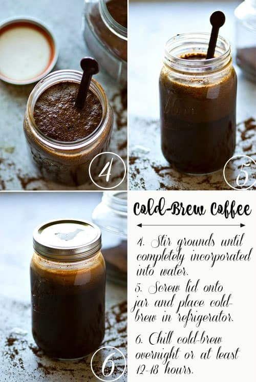 Classic cafe-style cold brew coffee is SO unbelievably easy to make at home you'll never go back to buying it! This overnight cold-brew coffee is truly a keeper recipe for any coffee lover!