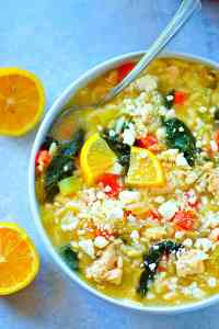 This Greek-style lemon chicken orzo soup is the kinda cozy food you're gonna want on standby all winter! Incredibly soothing and bursting with fresh lemon flavor.
