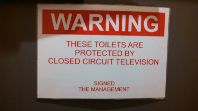 Oh, dear. Must be a fair amount of trouble in Tollington Arms loo