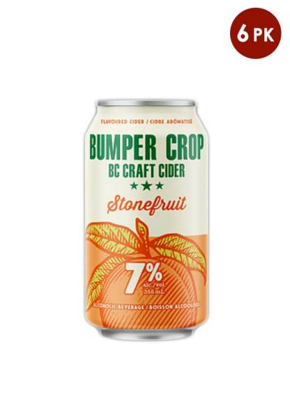 Bumper Crop BC craft cider Stonefruit6 cans