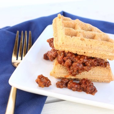 Paleo Waffle Sloppy Joes - Easy, budget friendly and a kid favorite!