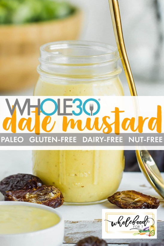Whole30 Date Mustard - This Whole30, Paleo, gluten-free dairy-free dipping sauce and dressing is a kid favorite! Easy to make with only 3 ingredients and budget-friendly!