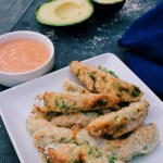 Avocado Wedges with Chipotle Sauce
