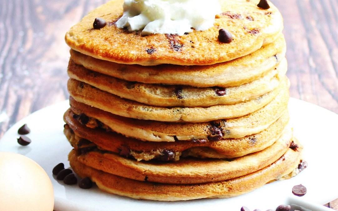 Paleo Chocolate Chip Pancakes