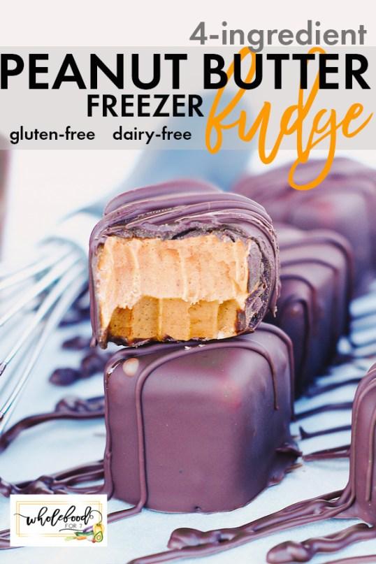 4-Ingredient PB Freezer Fudge - Gluten-free, dairy-free, and so easy!