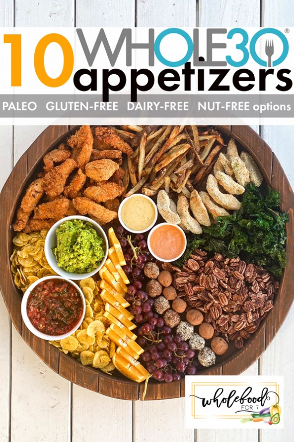 10 Whole30 Appetizers - Gluten-free, dairy-free, paleo, with nut-free and keto options.