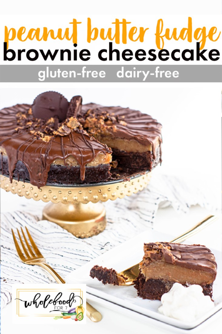 PB Fudge Brownie Cheesecake - This decadent dessert is gluten-free, dairy-free, and dang delicious!