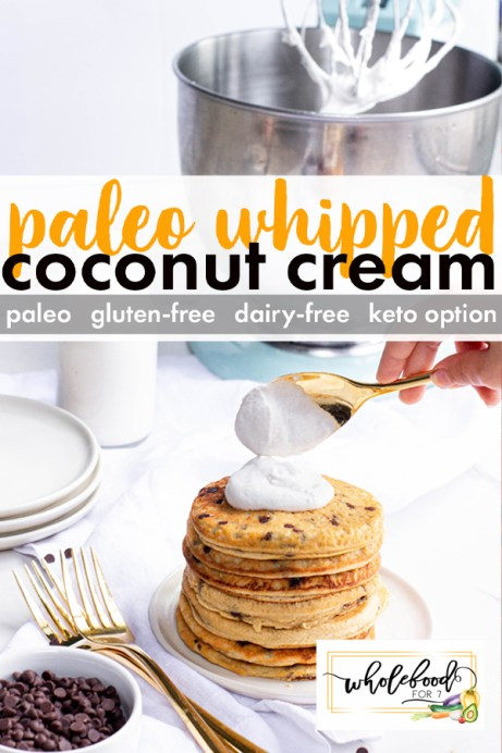 Paleo Whipped Coconut Cream - Gluten-free, dairy-free, with keto-options