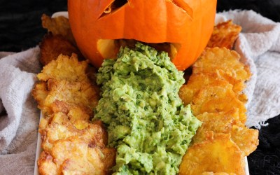 Halloween Whole30 Tostones and Guacamole
