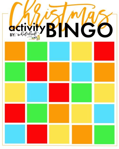 Christmas Activity Bingo Blank - Create your own family Christmas bucket list in this fun bingo format!