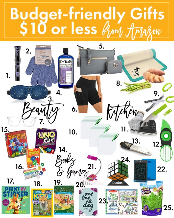 Budget Friendly Gifts under $10 from Amazon