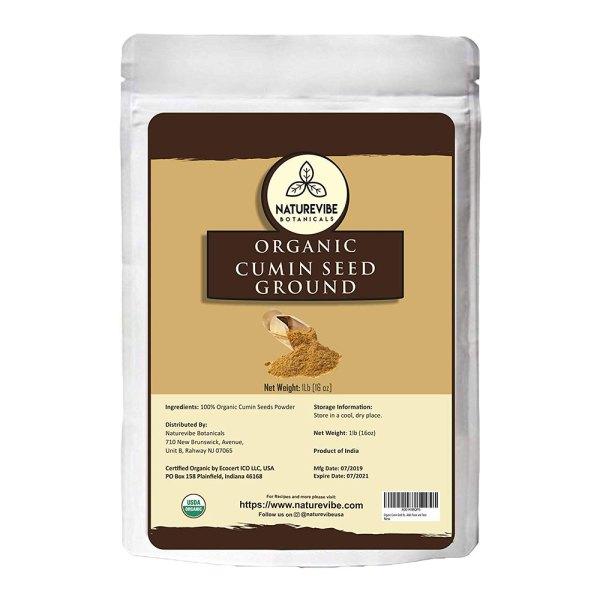 Organic Cumin Seed Powder by Naturevibe botanicals, 1 lb (Cuminum cyminum L.)