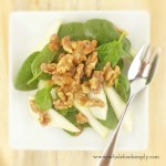 Maple Walnuts and Pear Salad