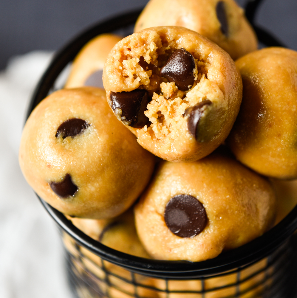 quick and easy cookie dough protein balls