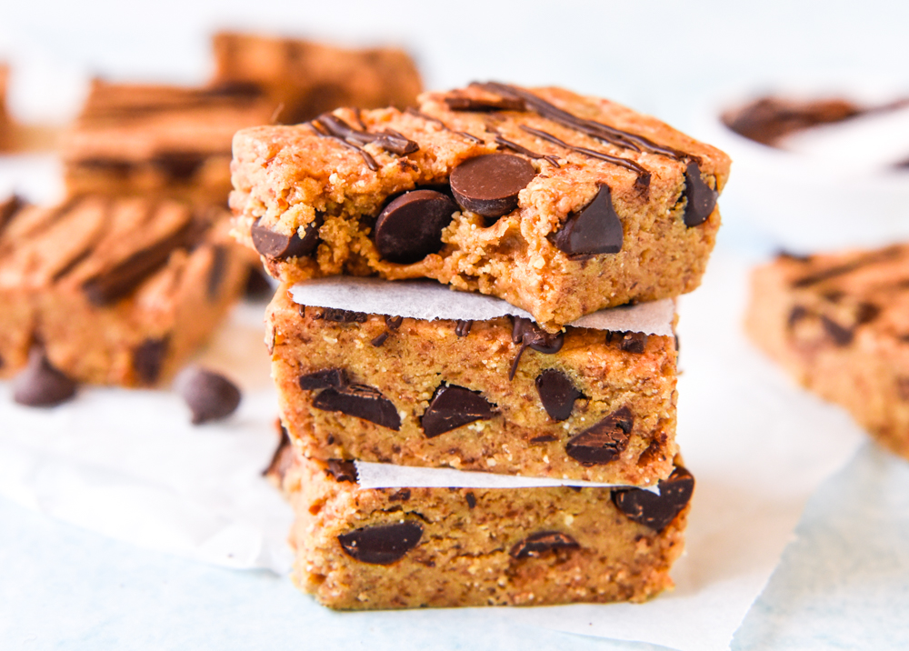 Choc Chip Caramel Protein Bars with Thermomix Instructions