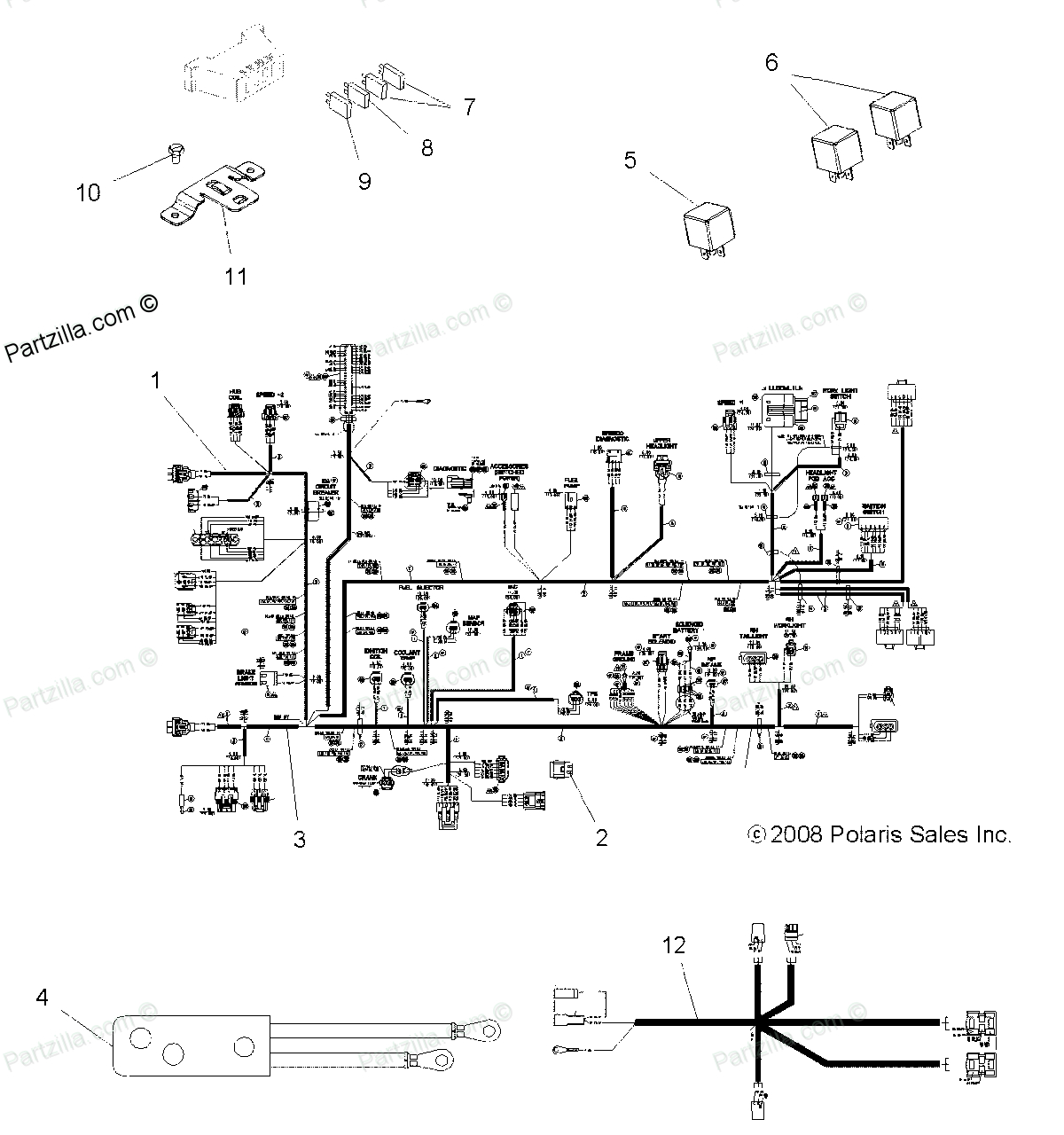 Polaris Scrambler 500 Wiring Diagram