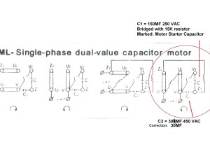 240v Motor Wiring Diagram Single Phase Collection