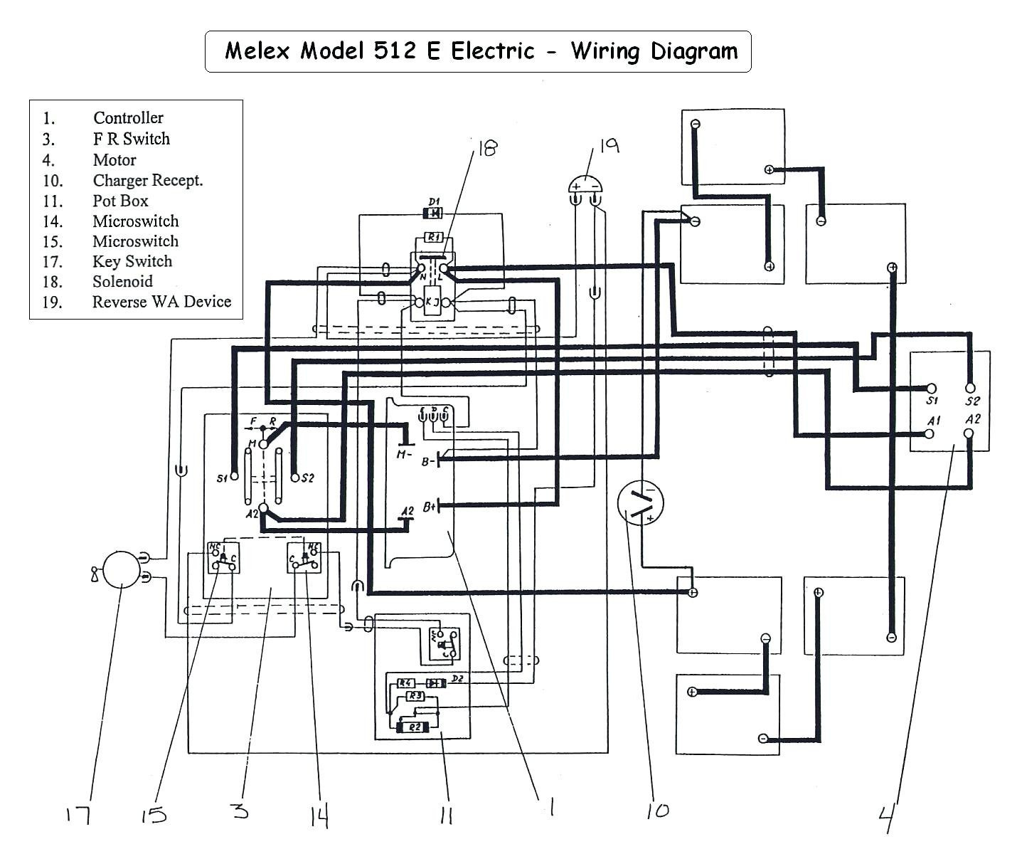 Wiring Diagram For 1999 Yamaha Electric 48 Volt Golf Cart Wiring