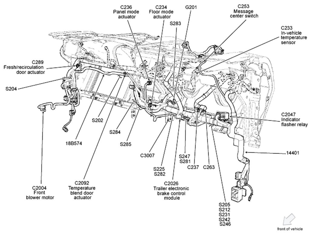 Circuit Electric For Guide: 2007 f150 wiring harness diagram