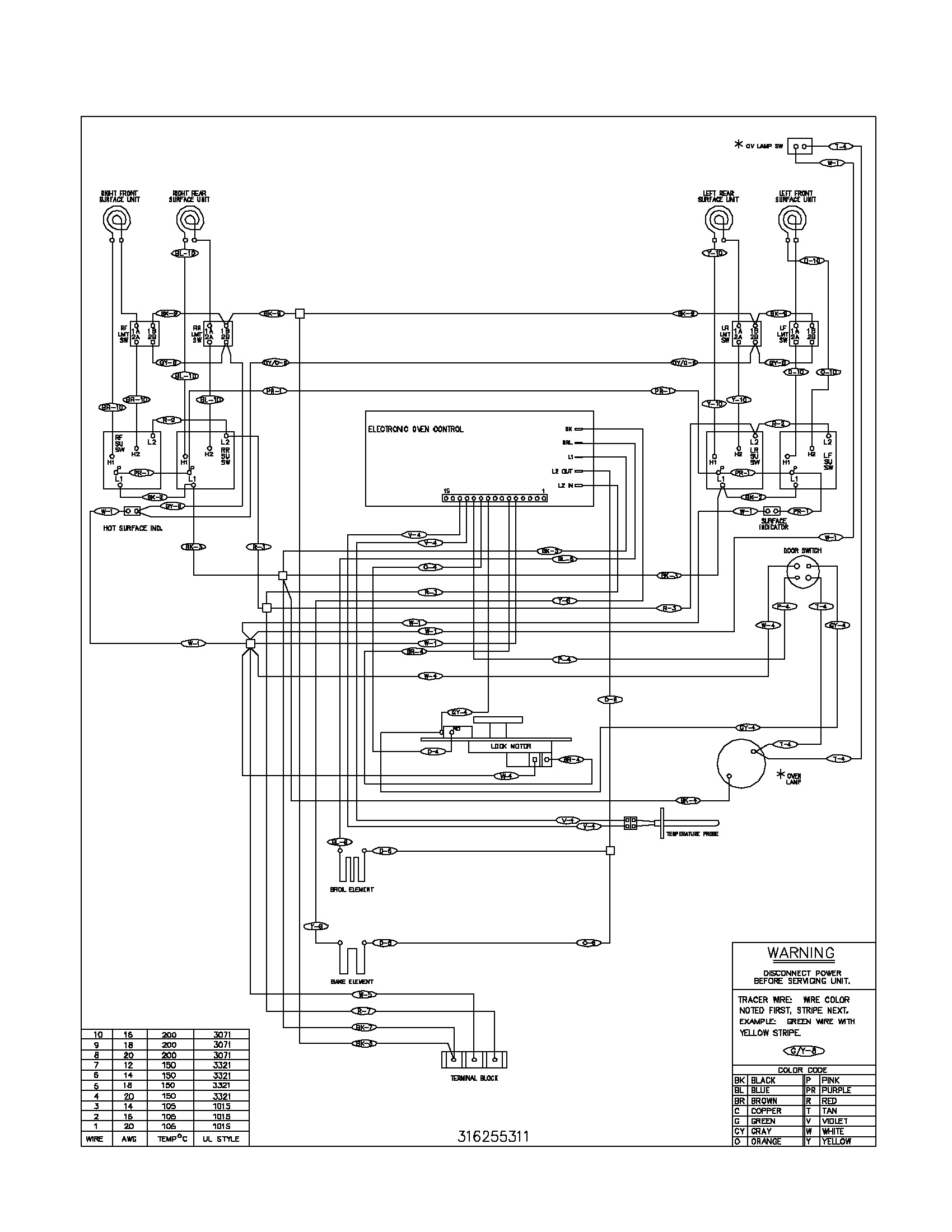 Frigidaire Electric Range Wiring Diagram Gallery