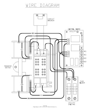 Generac whole House Transfer Switch Wiring Diagram Sample