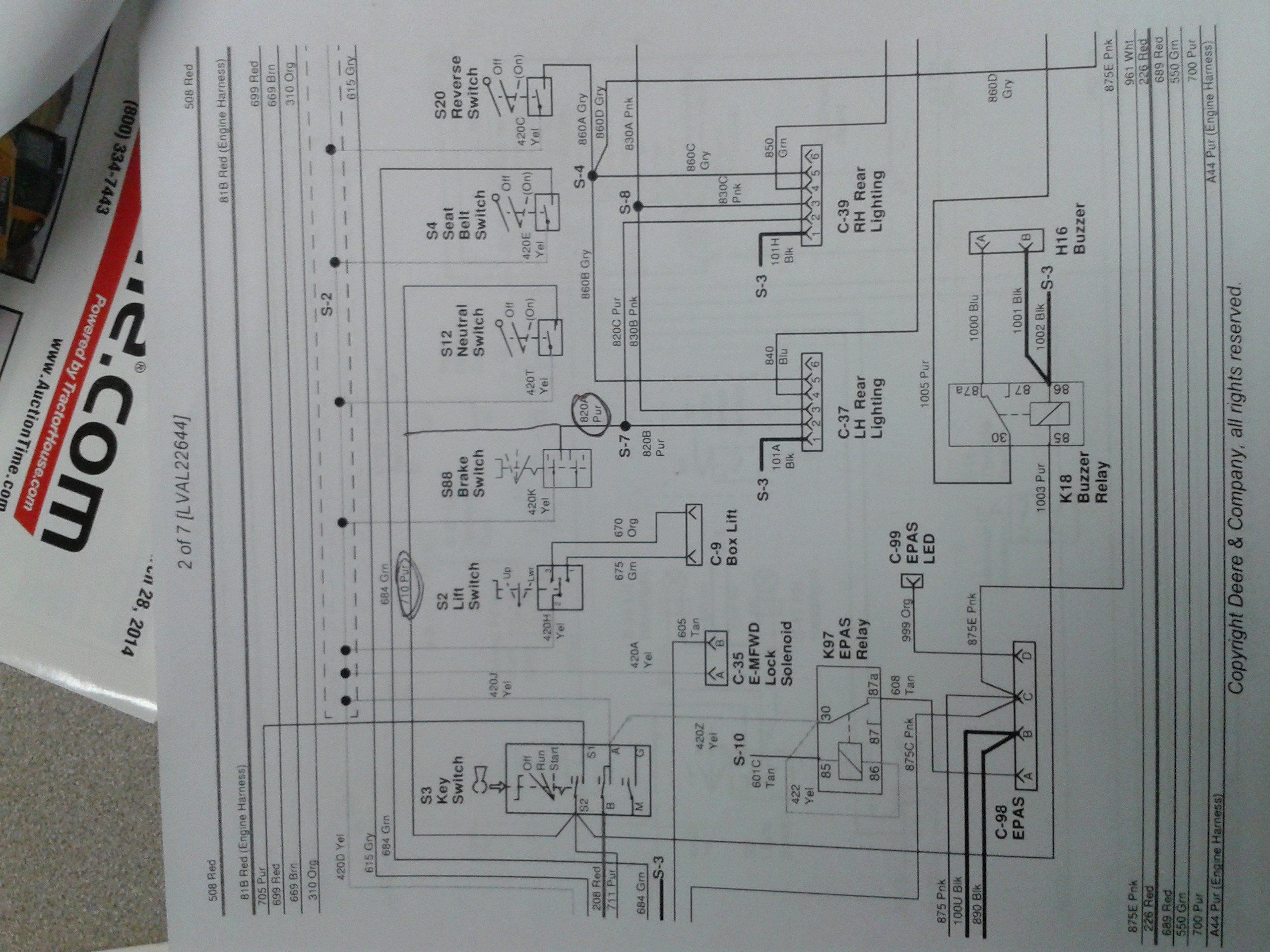 John Deere M665 Wiring Schematics diagram for ignition ... on john deere 2355 wiring diagram, john deere 180 wiring diagram, john deere lx277 wiring diagram, john deere 332 wiring diagram, john deere 757 engine diagram, john deere 455 wiring diagram, john deere lt166 wiring diagram, john deere 5103 wiring diagram,