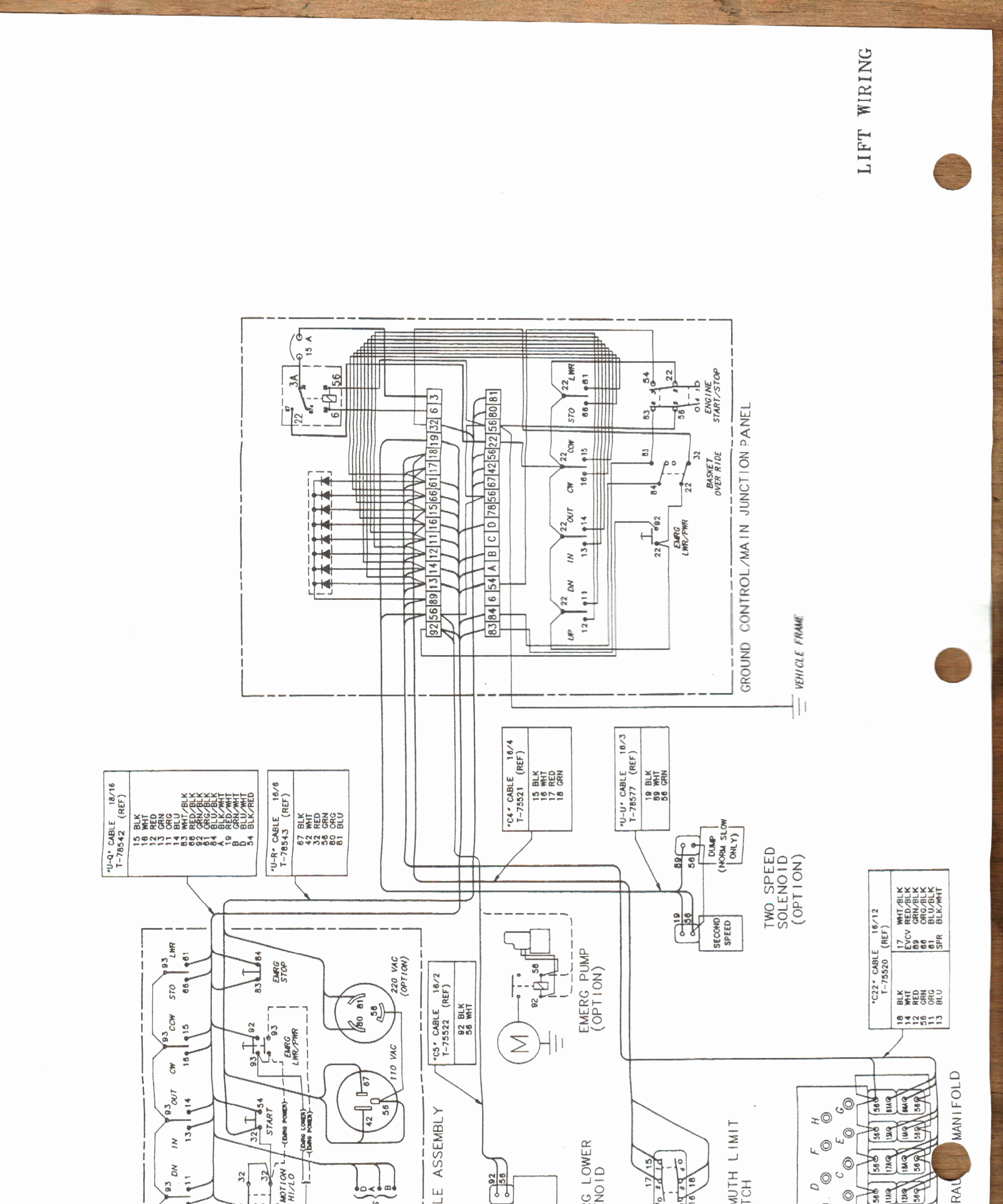 Lift Electrical Wiring Diagram