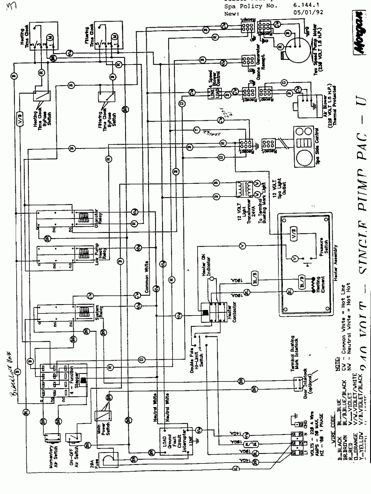Four Winds Spa Wiring Diagram