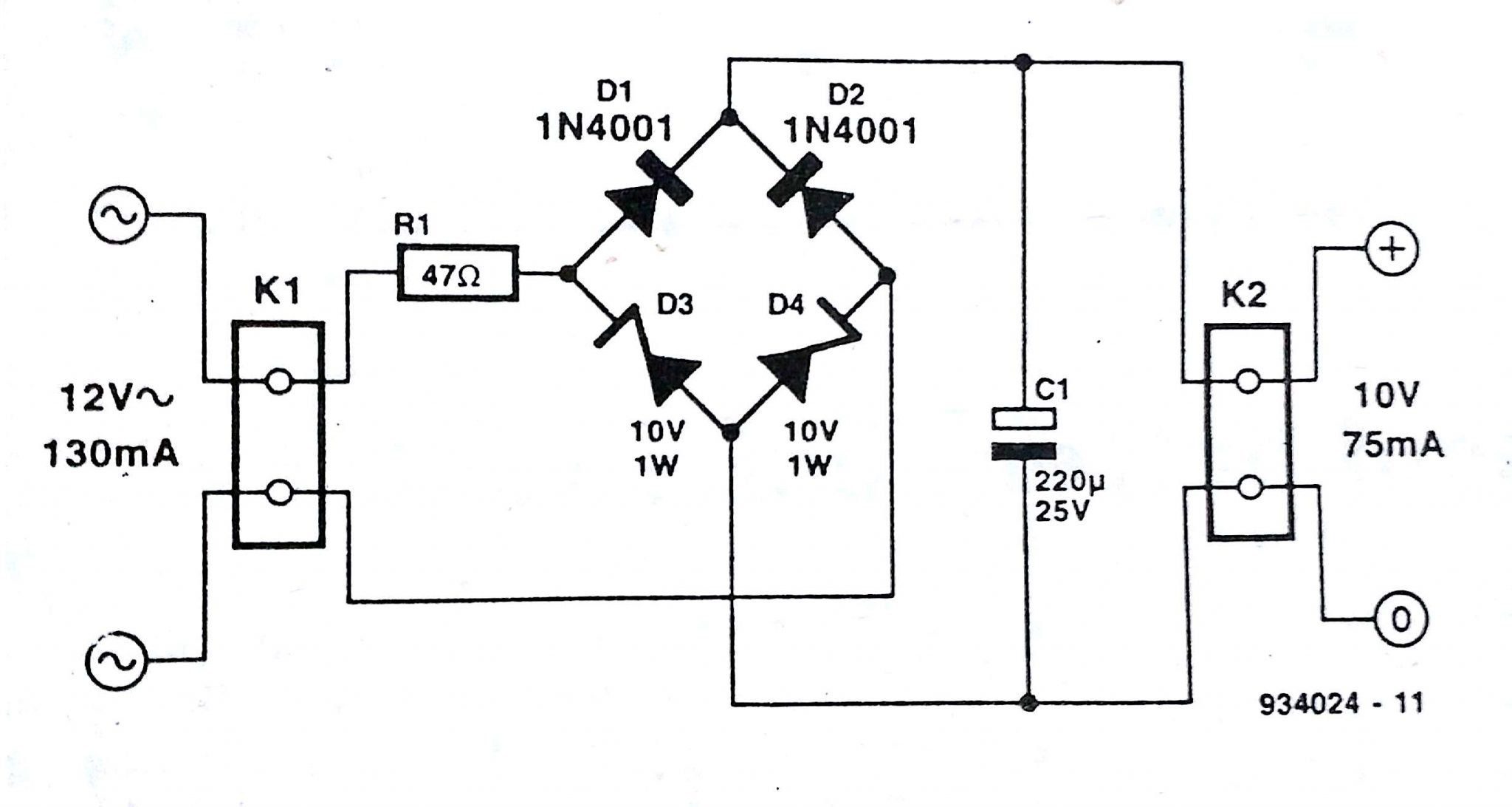 Wiring Diagram Bridge Rectifier Gallery