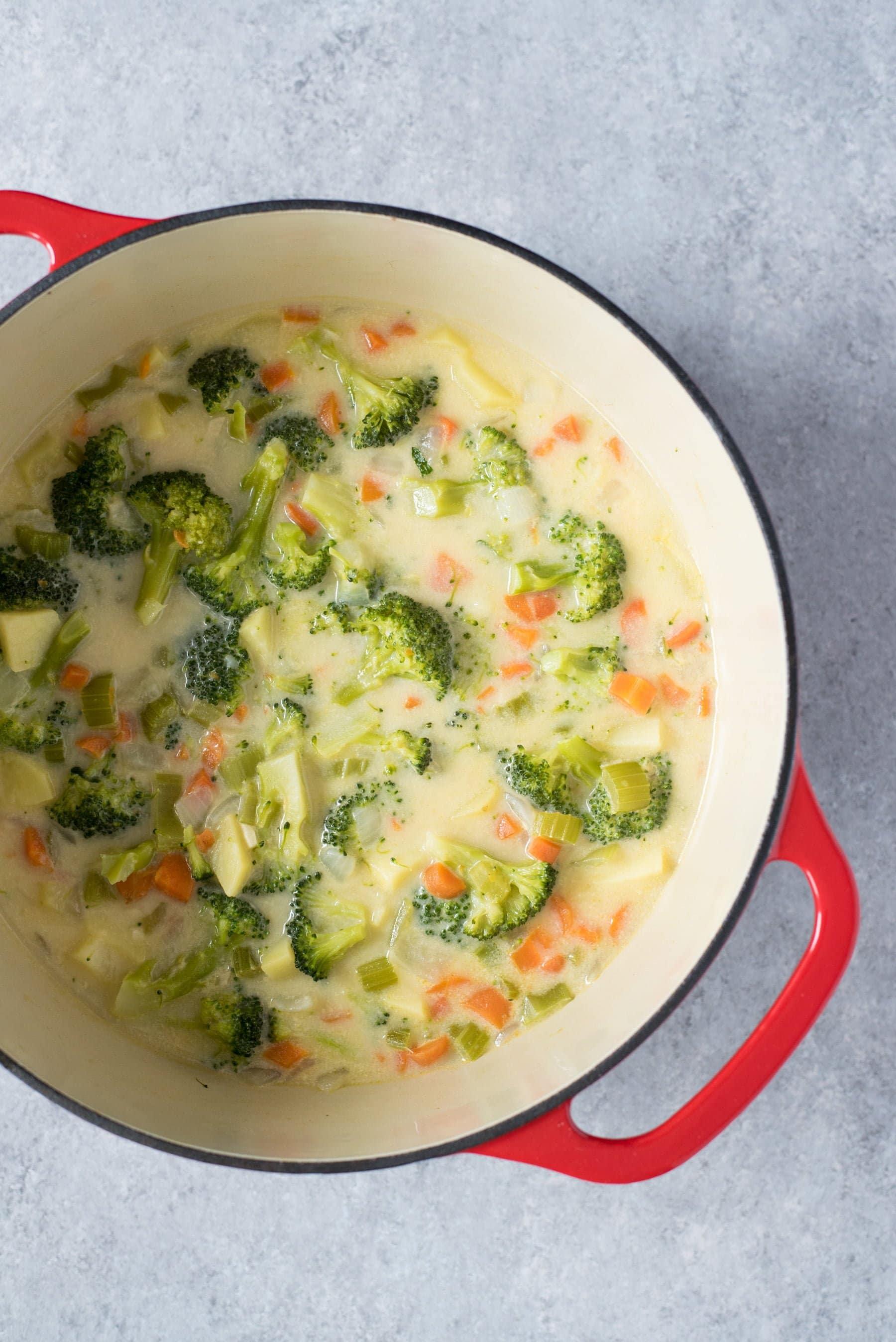 Broccoli Cheddar and Potato Soup