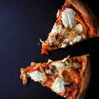 Roasted Veggie and Ricotta Pizza