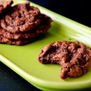 Flourless Double Chocolate Nut Butter Cookies