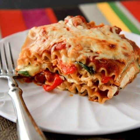 Roasted Vegetable Lasagna Stack for One