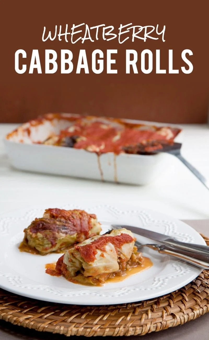 Wheatberry Cabbage Rolls