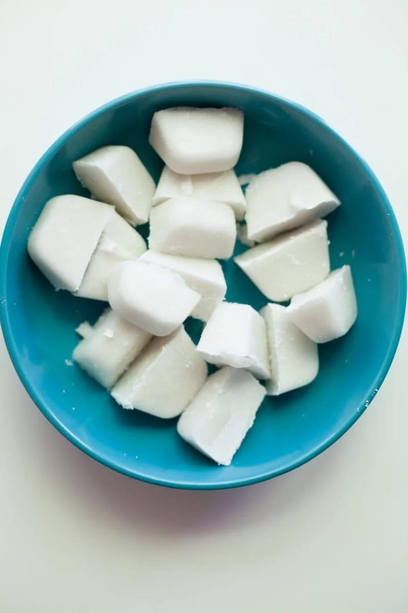 Light Pina Coladas - Coconut Milk Ice Cubes