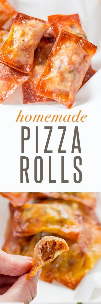 Baked Homemade Pizza Rolls