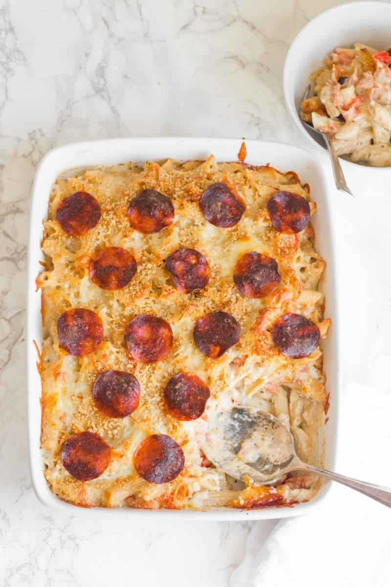 Pepperoni Pizza Mac and Cheese