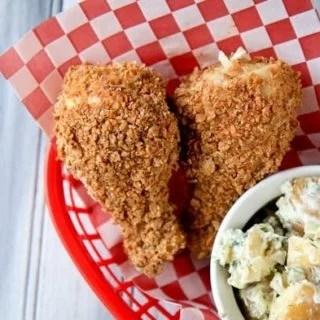 Crispy Baked Fried Chicken Drumsticks